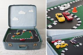 Great ideas for cars, dinosours and dolls! My advice, find an old briefcase and repurpose! Tutorial