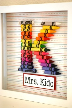 No Instructions, but all you need is cardstock, crayons and frame!